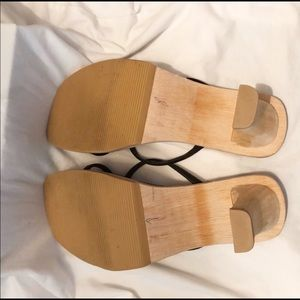 Steve Madden Shoes - STEVE MADDEN wood sole sandals, lined footbed 8
